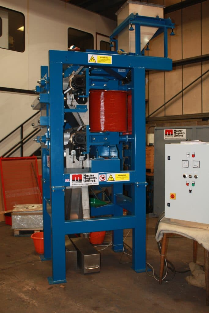 final tests Induced Roll Magnetic Separator