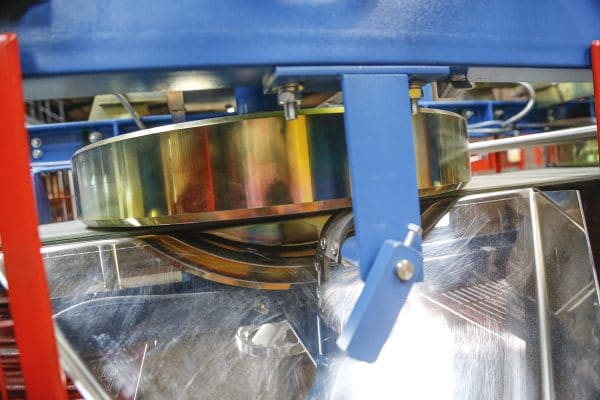 Close up of disc separator