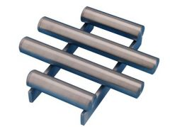 Hopper Grid Magnets Tube and Grid Magnets are a low-cost solution to removing ferrous contaminants. They are commonly installed in hoppers and chutes and can be manufactured using either Ferrite or Rare Earth materials.