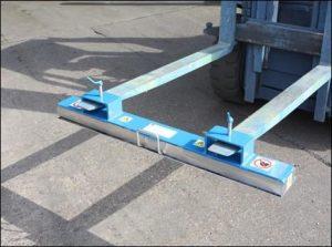 Fork Lift Magnetic Sweeper
