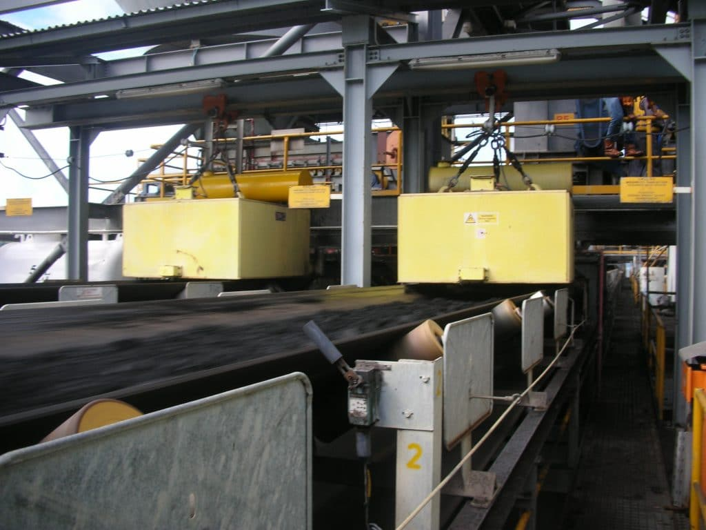 Electro Suspension Magnets installed in a bulk handling terminal