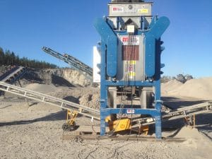 Induced Roll Separator for Mineral Purification