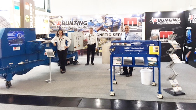 Bunting stand at IFAT
