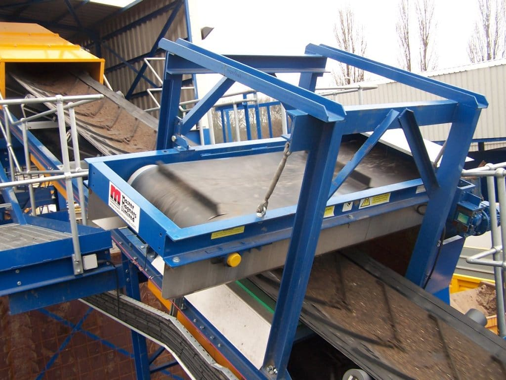 Metal recovery using eddy current separator