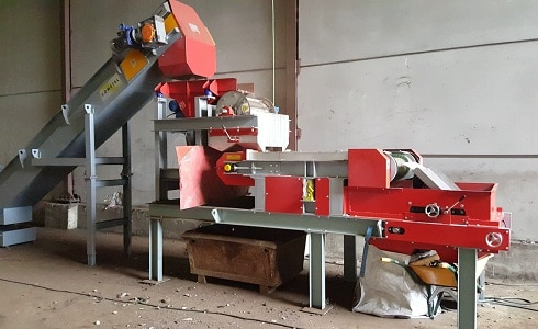 Eddy Current Separator installed in Spanish Metal Recycler