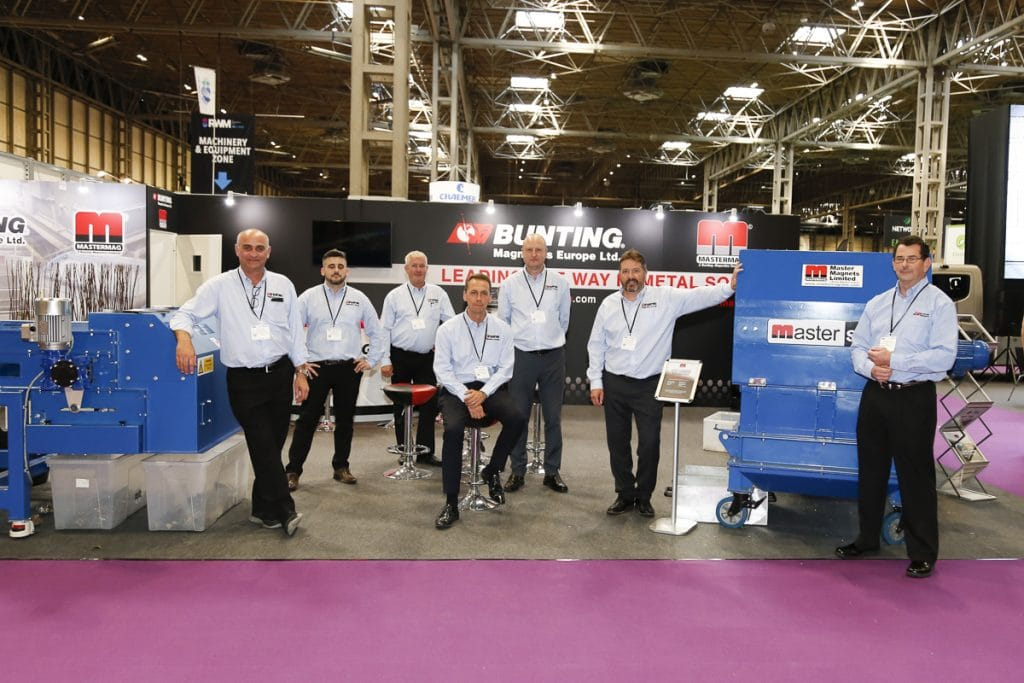 Bunting and Master Magnets team on the stand at RWM18