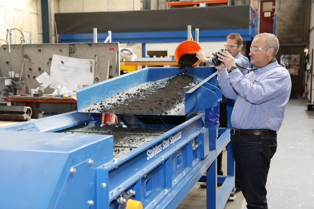 Tests on Stainless Steel Magnetic Separator