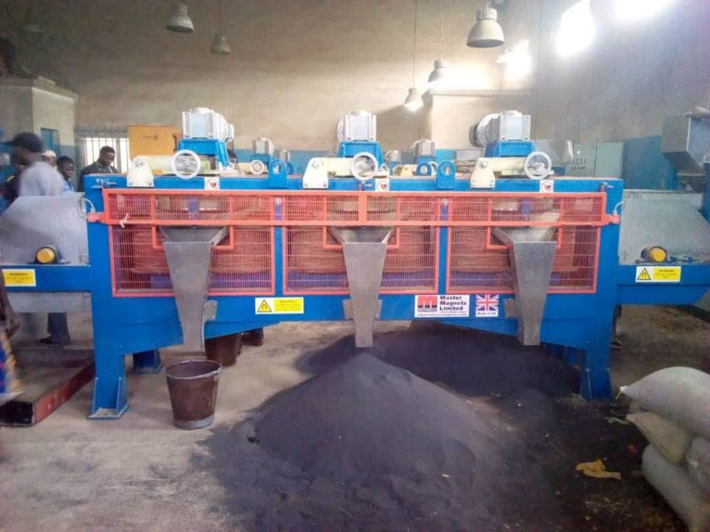 Coltan Processing using Magnetic Disc Separator
