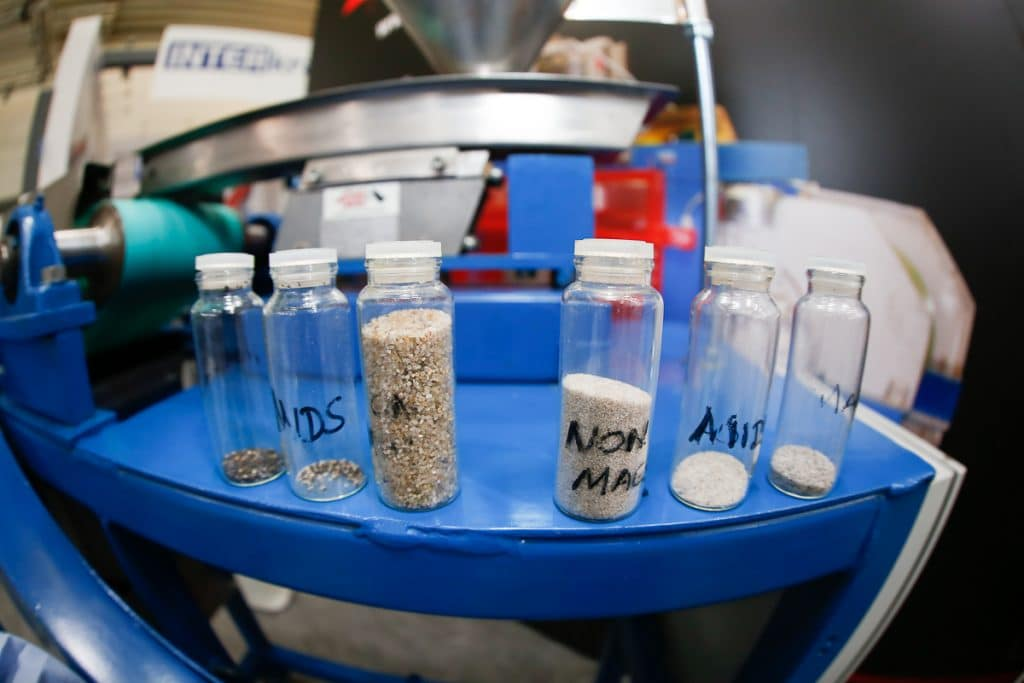 Mineral samples tested on the Rare Earth Roll Magnetic Separator