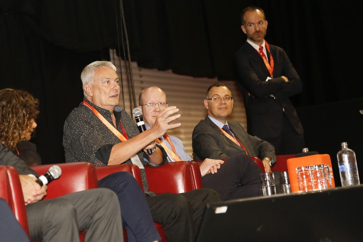 Prof Neil Rowson speaking at Ceramics UK 2019