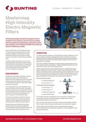 High Intensity Electro Magnetic Filters