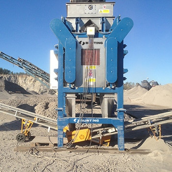 High Intensity Induced Roll Separator for Mineral Purification