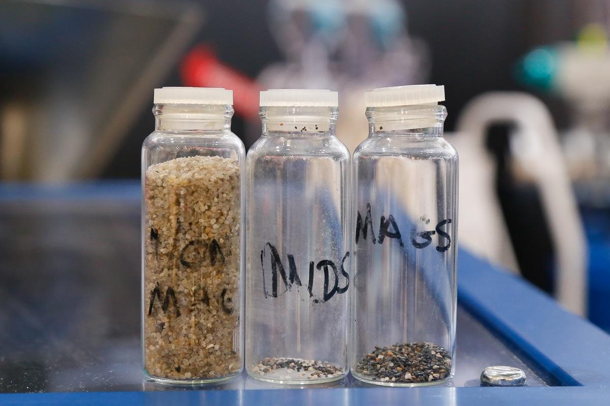 Lab testing different materials