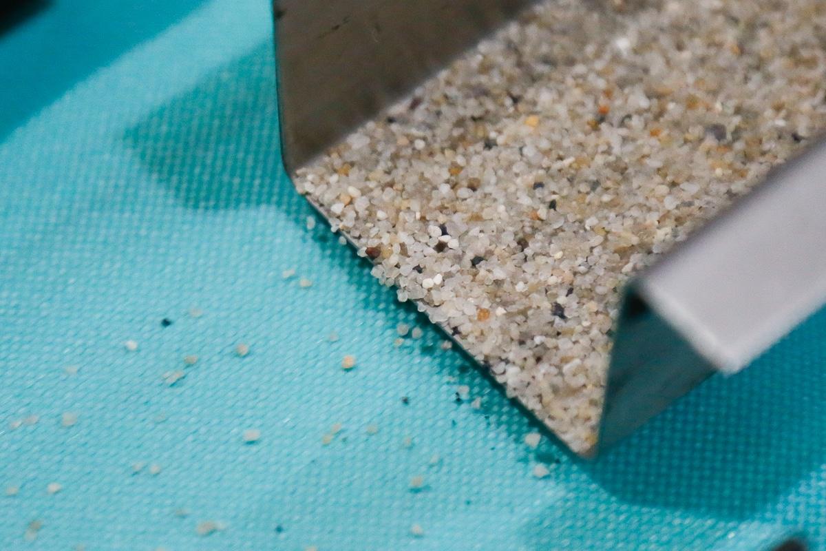 Separating fine materials