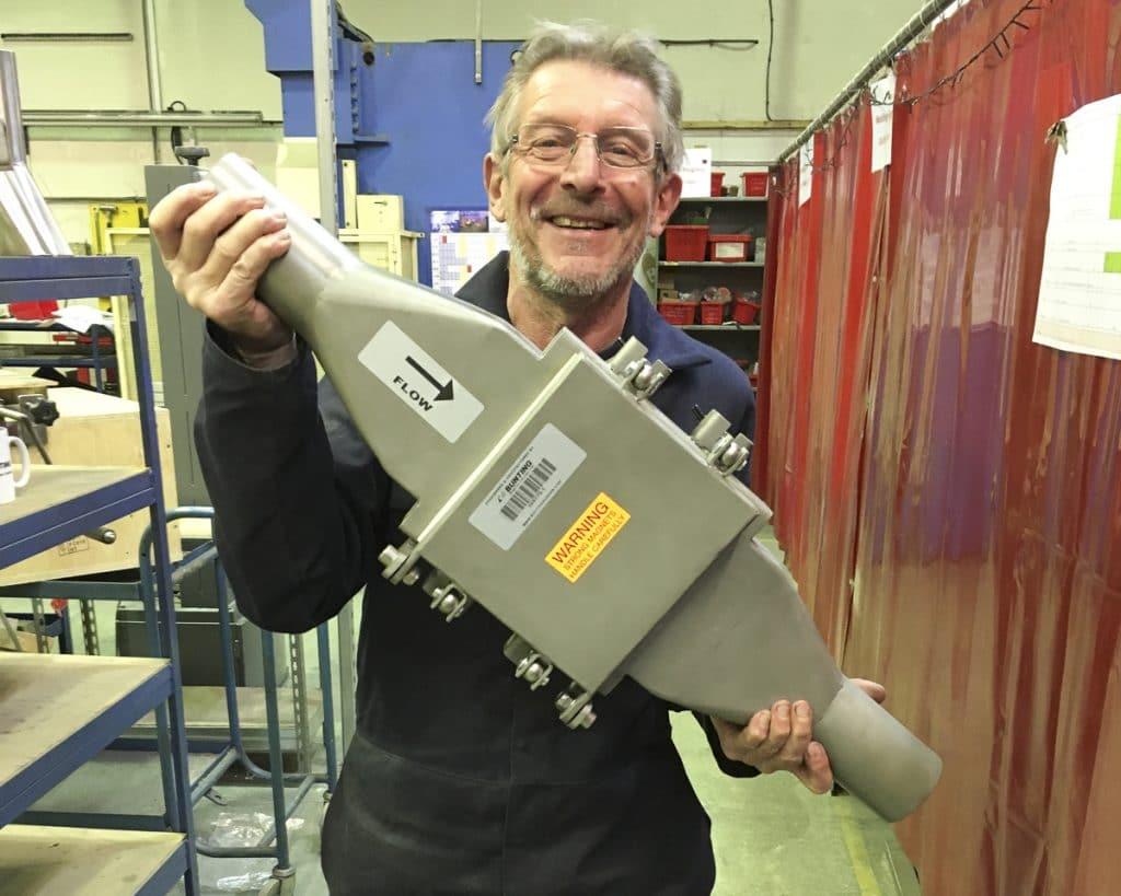 In line magnetic separator