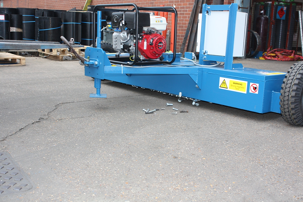 Bunting Electromagnet Forklift Sweeper