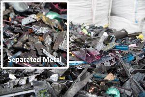 Metal From Shredded Printer Cartridges
