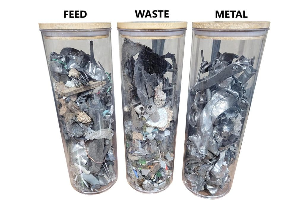 Feed waste and metal