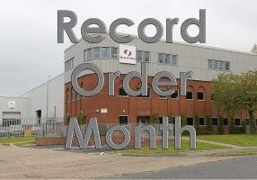 Record Order Month for Bunting-Redditch